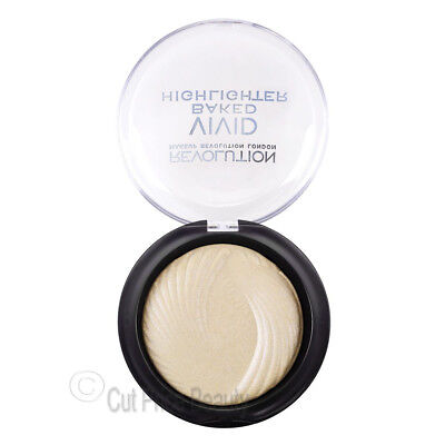 Makeup Revolution Vivid Baked Highlighter Highlighting Face Powder Golden Lights
