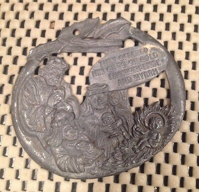 Rare Antique Vtg Metal Ornament Christmas Collector's Advert J T's General Store
