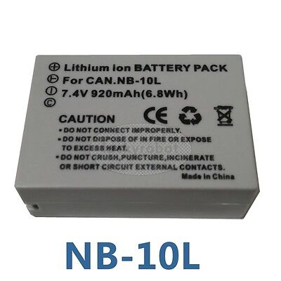 Battery Pack For Canon PowerShot G15 SX50 HS Camera NB-10L NB 10L