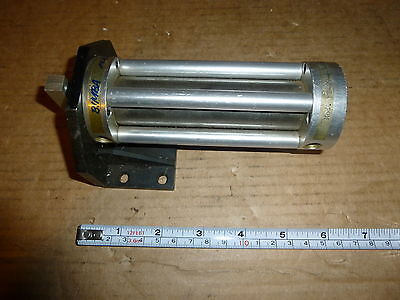 "Ft-09-4-3 Bimba  Flat, Pancake Dual Rod, 1"" Bore Air Cylinder Used"