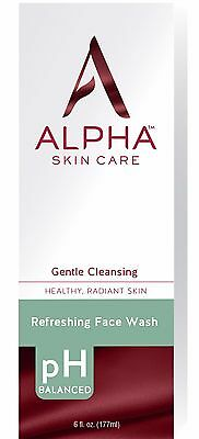 Alpha Hydrox Refreshing Face Wash -New- Aha 6 Oz Facial Cleanser Ahw1