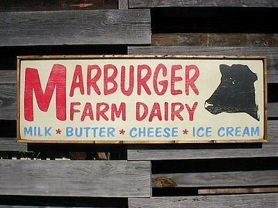 "PERSONALIZED DAIRY FARM MILK COW RUSTIC DISTRESS COUNTRY DECOR WOOD SIGN 36""x12"""