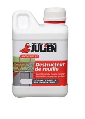 DESTRUCTEUR ROUILLE OT JULIEN ANTIROUILLE INCOLORE détruit chimiquement rouille