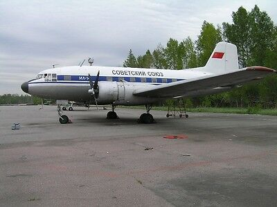 1959 IL-14P (the same as DC-3 with tricycle gear).