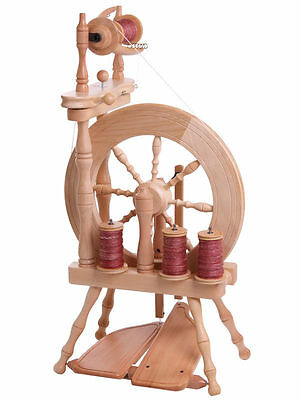 TRAVELLER SPINNING WHEEL by Ashford  Single Drive Double Treadle Upright Design