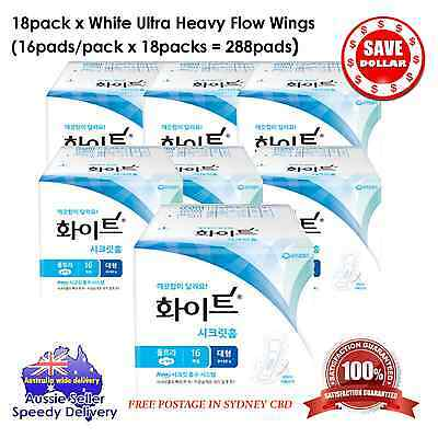 288pads x Female Sanitary Pad Ultra Wings Heavy Flow Made in Korea Pad Tampons