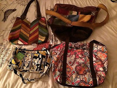 Lot of 4 designer bags, multi color, womens, fashionable, accessories
