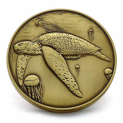 Leatherback Sea Turtle Limited Edition Collectible Bronze Coin