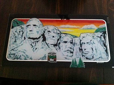Rare Slot Machine Glass Mount Rushmore So. Dakota video from IGT lottery
