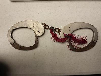 Police Marocaine Handcuffs with Key from France circa 1940's