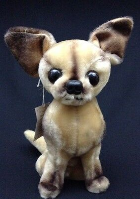 Vtg Kamar Plush Dog Chihuahua 1960s W/Tags Rare Excelsior Excellent Condition!