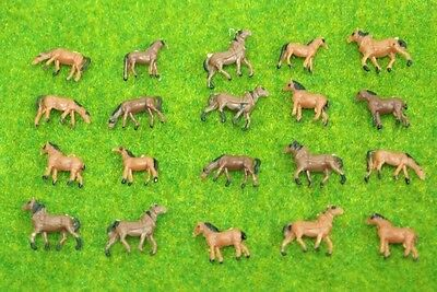 lot 20 pcs N scale animals figures 1:160 for Model train layout ( Horse )