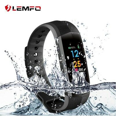 LEMFO Impermeable Smart Watch Podómetro Pulsera Inteligente Para Xiaomi iPhone