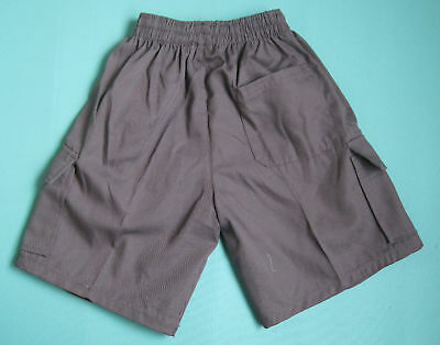 NEW school uniform Cargo shorts pants Grey size 5 to 16