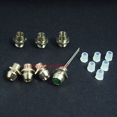 100pcs 3mm Chrome Metal LED Bezel Holder Panel Display LED Holders New