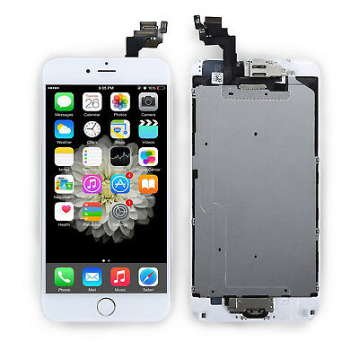 """White For iPhone 6 Plus 5.5"""" LCD Display Touch Screen Digitizer Assembly Frame"""