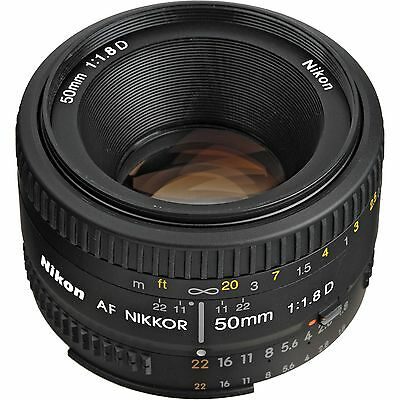 Nikon AF Nikkor 50mm f/1.8D Lens for DSLR Cameras