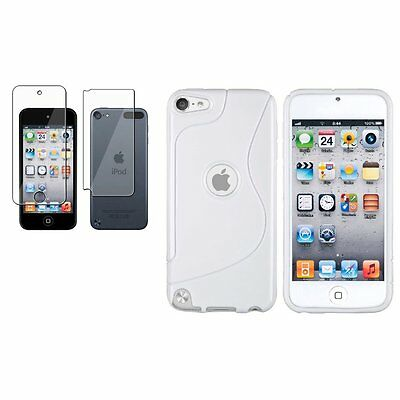 Blanco S Line TPU Funda+Protector Cuerpo LCD Protector Para iPod Touch 5 5G
