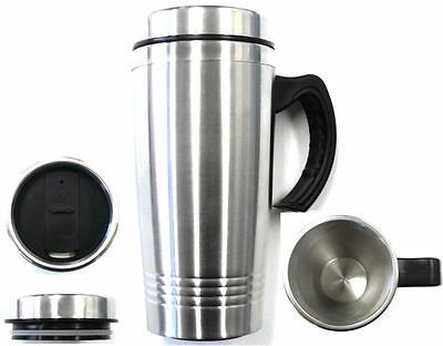 16OZ Stainless Steel Coffee Cup with Handle Insulated Thermos Travel Mug Tumbler