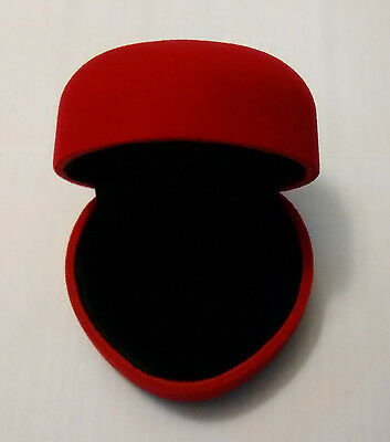 Brand New Velvet Heart Shape Ring Box Wedding Engagement Birthday Gift Red