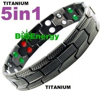 Magnetic Energy   Power Bracelet Health 5in1 Bio Armband TITANIUM GERMANIUM