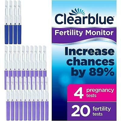 20x Clearblue Advanced Monitor Fertility Test Stick Refills & 4x Pregnancy Tests