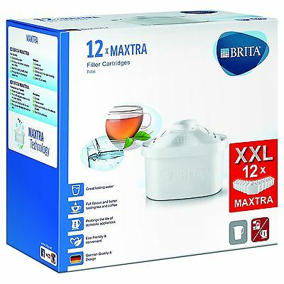 12 x BRITA MAXTRA New Water Filter Jug Refills Genuine Replacement Cartridges