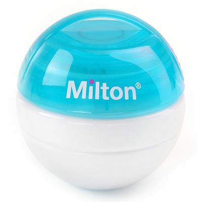 MILTON New Mini Baby Soother Teat Dummy Steriliser with 10 FREE Tablets - Blue