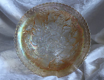 VINTAGE IMPERIAL GLASS-MARIGOLD OPEN ROSE PATTERN BOWL-STUNNING!