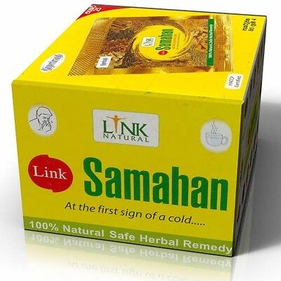100 x Link SAMAHAN Ayurveda Ayurvedic Herbal Tea Natural Drink for Cough & Cold