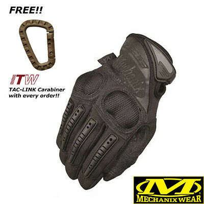 Mechanix M-Pact 3 MPACT Covert Black Gloves All Sizes ***Free ITW Carabiner***