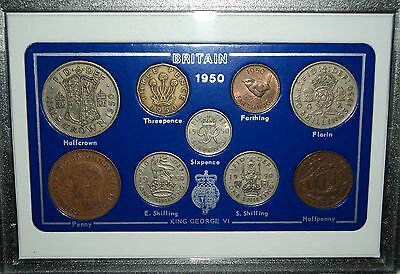 1950 Vintage Coin Set 67th Birthday Birth Year Present Wedding Anniversary Gift
