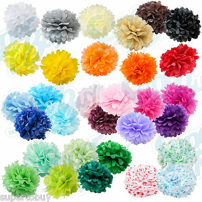 "Paper Tissue Pom Poms 8"" 10"" 12"" 14"" 16"" Wedding Party Festival Flower Pompom"