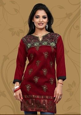 Indian Designer Crepe Silk tops blouse Kurtis-Tunics for Women with Foil Print