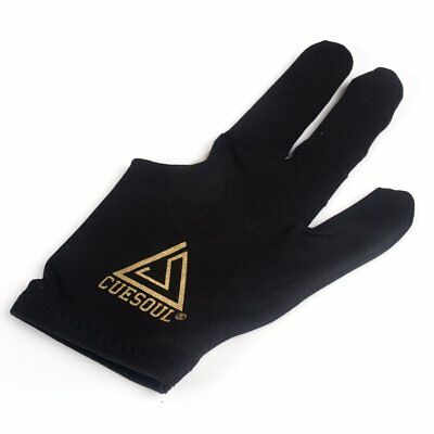 Cuesoul Billiard Gloves 5 PCS 3 Finger  BLACK For Pool Cue and Snooker cue
