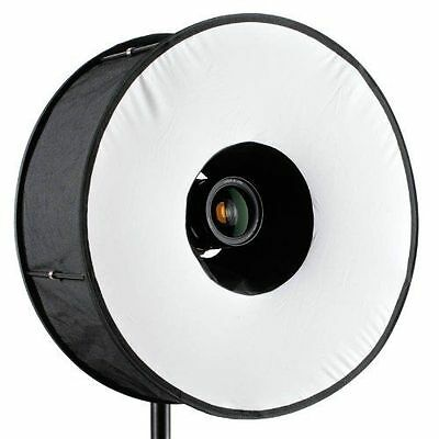 RoundFlash Universal Collapsible Magnetic Ring Flash Diffuser 45cm for Macro & P