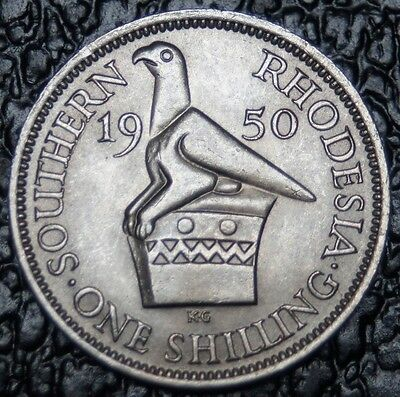 1950 SOUTHERN RHODESIA - ONE SHILLING - King George The Sixth - High GRADE - NCC