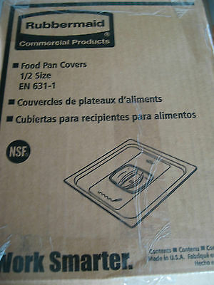 Rubbermaid Commercial FG128P23CLR Cold Food Pan Cover 1/2 Size - Lot of 6