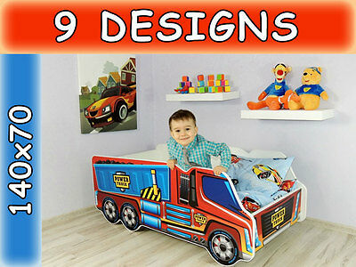 Childrens Bed Toddler Kids With Mattress !!! Car Bed!!! Truck Bed!!!