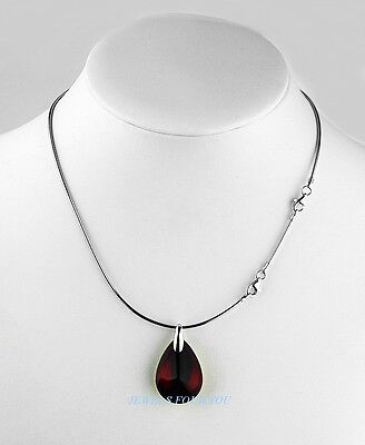 Baccarat St. Silver Psydelic Iridescent Ruby Necklace New France Box