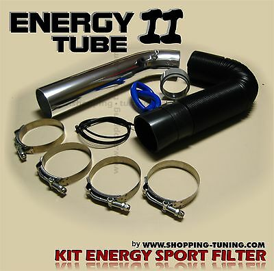 Kit De Montage Filtre A Air Tube Alu Admission Directe Energy 2 Gaine Souple