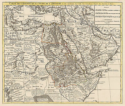 HJB-AntiqueMaps: Map of Egypt and Arabia By: Covens & Mortier  Date: 1730 Paris