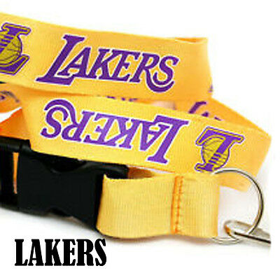Wholesale NBA Los Angeles Lakers Lanyard Key Chain Ring  Gold Riverwalk Imports