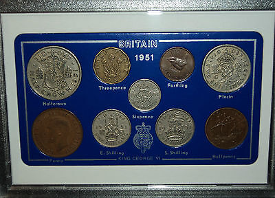 1951 Vintage Coin Set 66th Birthday Birth Year Present Wedding Anniversary Gift