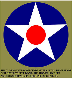 USAAC Roundel Vinyl Decal Sticker United States Army Air Corps