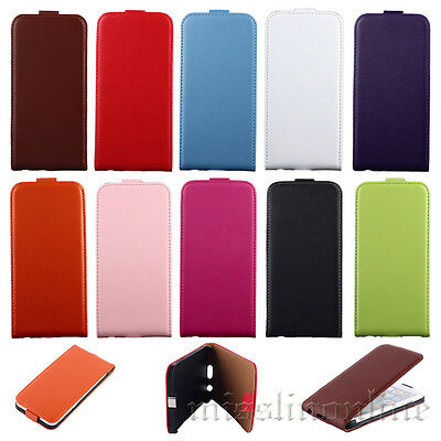 Classic Black White Pure Colors Series Flip Leather Pouch Hard Case Cover Mecoo