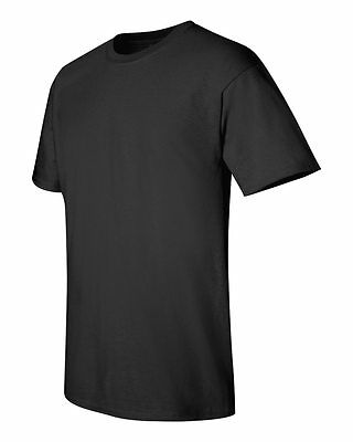 6 Gildan 100% Cotton BLACK 5000 Adult T-Shirts Wholesale Bulk Lot Plain S M L XL