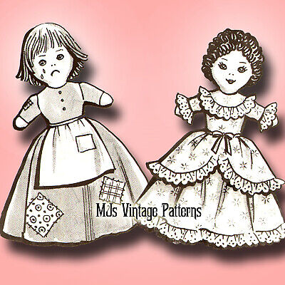 Vintage Upside Down Topsy Turvy Doll Pattern ~ Cinderella Rags and Ball Gown