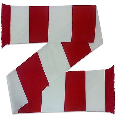 Arsenal Colours Soccer Gift Retro Bar Scarf Red White
