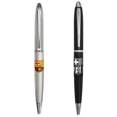 FC Barcelona Official Soccer Gift Boxed Chrome Ballpoint Pen
